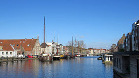 Galgewater canal in Leiden. the Netherlands Stock Images