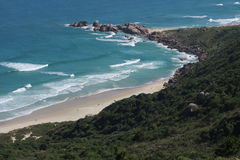 Beach in Florianopolis. View over Galheta's beach a in Florianopolis, Brazil Stock Photo