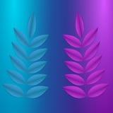 Galho azul e cor-de-rosa Ilustração do Vetor