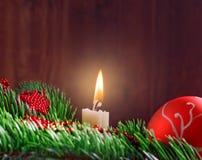 Galho do bauble do Natal Fotografia de Stock Royalty Free