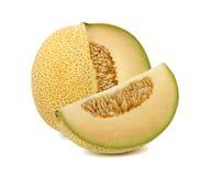 Galia melon ciący od cały odosobnionego obrazy stock
