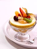 Galia melon filled with summer fruits Stock Images