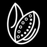 Galia melon in line design isolated on black background. Honeydew melon Stock Image