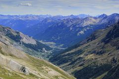 Galibier pass, France Royalty Free Stock Photos