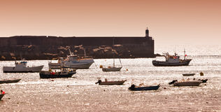 Galicia fishing harbour Stock Photography