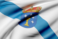 Galicia flag. 3d rendering of a Galicia flag waving Stock Photo