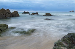 Galicia - Night. Altlántico Night Shot Ocean in Galicia (Spain Royalty Free Stock Images