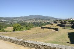 Galicia seen from Valenca Stock Image