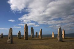 Galicia Stones. It´s the place of Hercules Tower Stock Photo