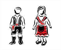 Galician dress Royalty Free Stock Photos