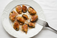 Galician mussels Royalty Free Stock Photography