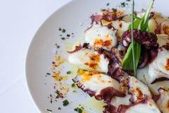 Galician octopus dish Royalty Free Stock Photos