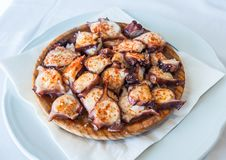 Galician style octopus, pulpo a la gallega Royalty Free Stock Images