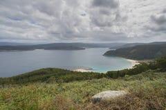 Galicianbred flodmynning Fotografering för Bildbyråer