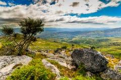 Galicjanina krajobraz blisko Arbo, Hiszpania - obraz royalty free