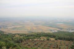 Galiläa-Felder israel Stockbild
