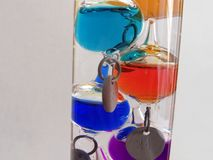 The Galilean thermometer stock images