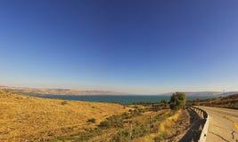 Galilee湖在以色列 免版税图库摄影