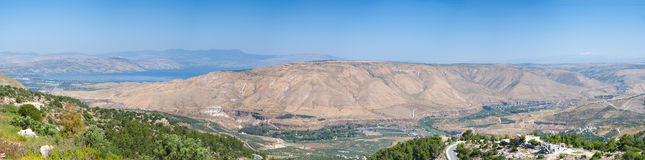 Galilee en Golan Heights Royalty-vrije Stock Afbeeldingen