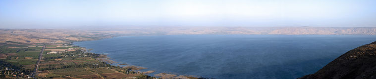 galilee hav Arkivfoton
