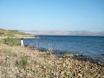 Galilee Lake Kinneret near Chapel of the Primacy 2010 Royalty Free Stock Photos