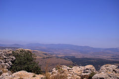 Galilee landscape. Mountains and nature in Galilee, Israel - travel vacation in  Middle East Stock Image