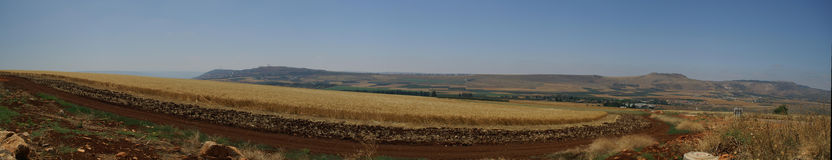 Galilee landscape panorama. Mountains and nature in Galilee, Israel - travel vacation in  Middle East Stock Photography