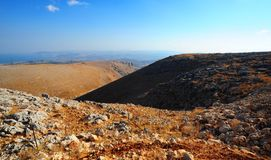 Galilee Mountains. View From Galilee Mountains To Galilee Sea, Kinneret Stock Images