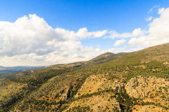 Galilee mountains landscape. Heights, blue sky with white clouds Stock Images