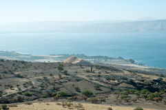 Galilee. North Israel . Sea of Galilee .Landscape Of North Galilee In Early winter, Israel stock image