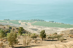 Galilee. North Israel . Sea of Galilee .Landscape Of North Galilee In Early winter, Israel stock photography