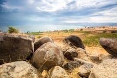 Galilee panorama taken from Mount of Beatitudes Royalty Free Stock Image