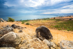 Galilee panorama taken from Mount of Beatitudes royalty free stock images