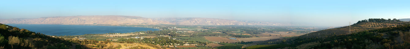 Galilee Sea and the Valley of Jordan River Royalty Free Stock Photography