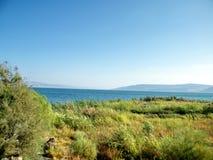 Galilee shore of Lake Kinneret near Chapel of the Primacy 2010 Royalty Free Stock Photo