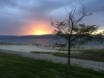 Galilee solnedgång arkivbild