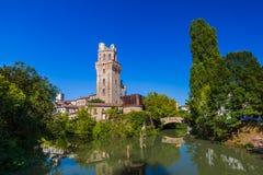 Galileo Astronomical Observatory La Specola Tower i Padova Ital fotografering för bildbyråer