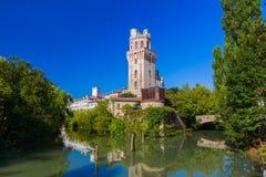 Galileo Astronomical Observatory La Specola Tower i Padova Italien royaltyfri fotografi