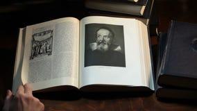 Galileo Galilee Portrait stock footage