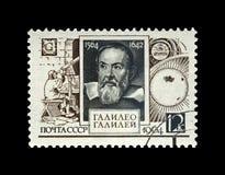 Galileo Galilei, berömd italiensk astronom, fysiker och tekniker, USSR, circa 1964, royaltyfri fotografi
