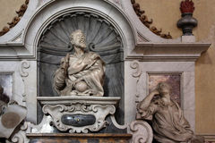 Galileo Galilei, detail of the tomb, Santa Croce cathedral, Florence Royalty Free Stock Image