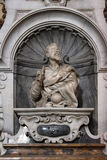 Galileo Galilei, detail of the tomb, Santa Croce cathedral, Florence Royalty Free Stock Photo