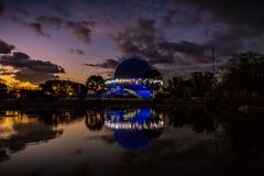 Galileo Galilei planetarium in Buenos Aires at sunset stock photography
