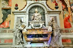 Galileo Galilei's tomb in Italy Stock Images