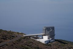 Galileo Optical Telescope La Palma royalty-vrije stock afbeeldingen
