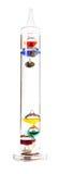 Galileo-Thermometer auf dem Weiß Lizenzfreie Stockfotografie
