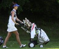 Galina Rotmistrova bij de Fourqueux-Open golfdames Royalty-vrije Stock Foto's