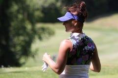 Galina Rotmistrova bij de Fourqueux-Open golfdames Stock Afbeeldingen