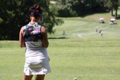 Galina Rotmistrova bij de Fourqueux-Open golfdames Royalty-vrije Stock Afbeelding