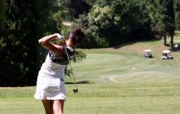 Galina Rotmistrova bij de Fourqueux-Open golfdames Royalty-vrije Stock Afbeeldingen